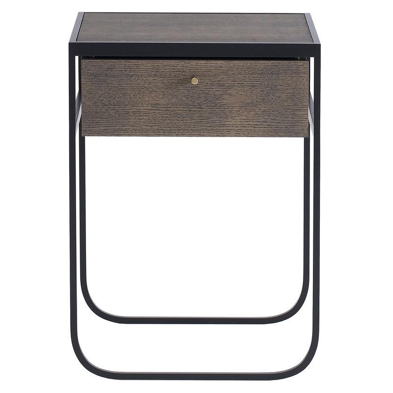 Asplund Nati Tati yöpöytä, savustettu tammi - tummanharmaa