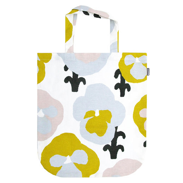 Kauniste Orvokki tote bag, yellow
