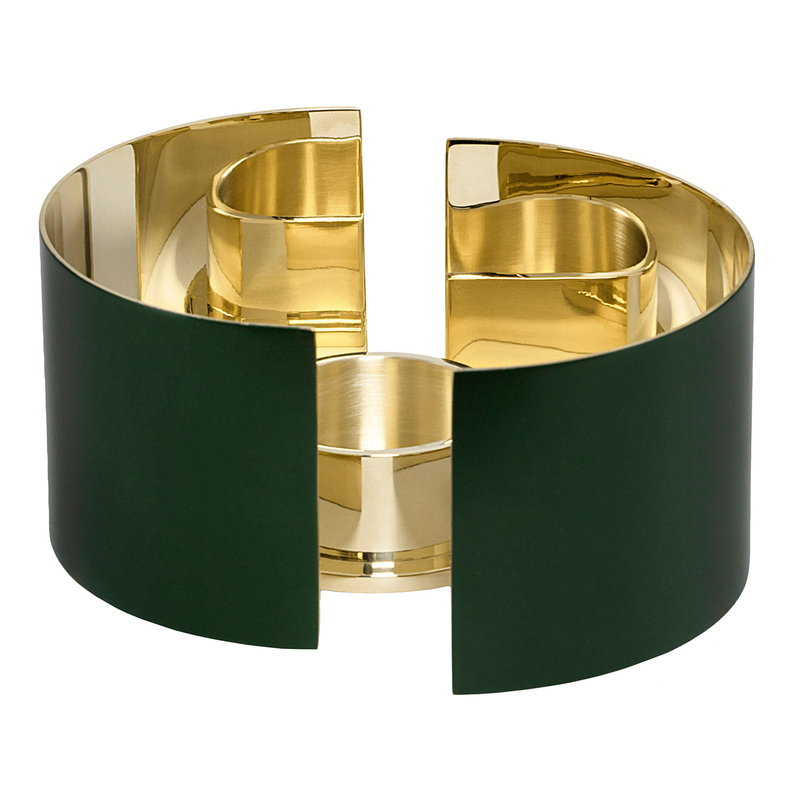 Skultuna Infinity candle holder, small, dark green