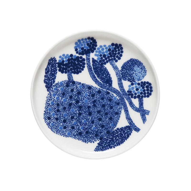 Marimekko Oiva - Mynsteri lautanen 13,5 cm, sininen - valkoinen