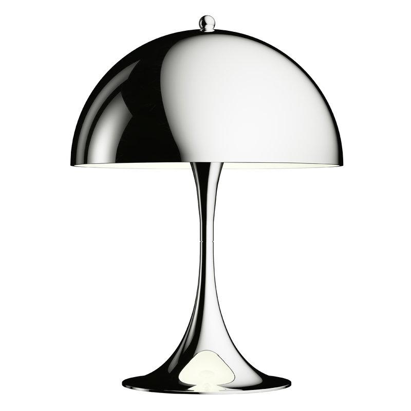 Louis Poulsen Lampada da tavolo Panthella Mini, cromo