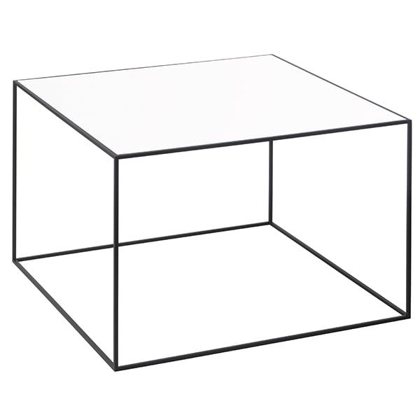 By Lassen Twin 49 sohvapöytä musta, valkoinen/tammi