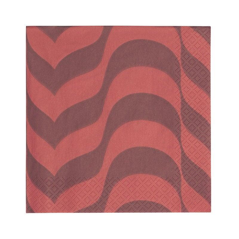 Iittala Aalto paperiservetti, luumu - punainen