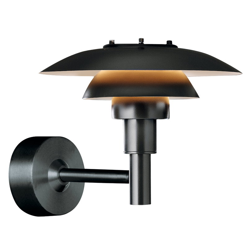 Louis Poulsen PH 3-2 1/2 wall lamp, black