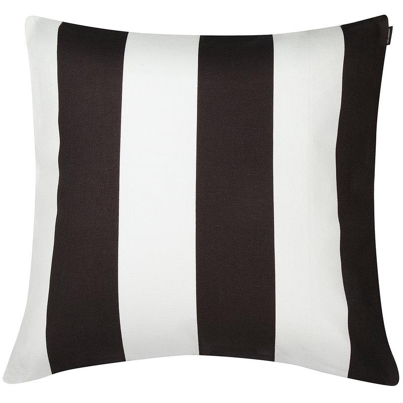 Marimekko Juhlaraita tyynynpäällinen 50 x 50 cm, valkoinen - musta