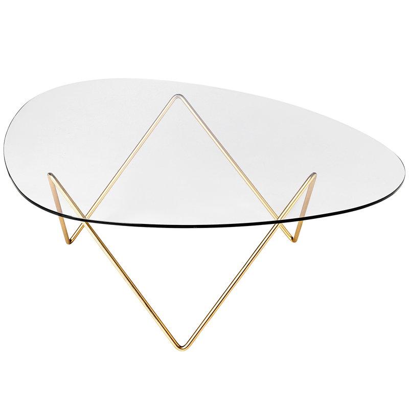 Gubi Pedrera coffee table, brass