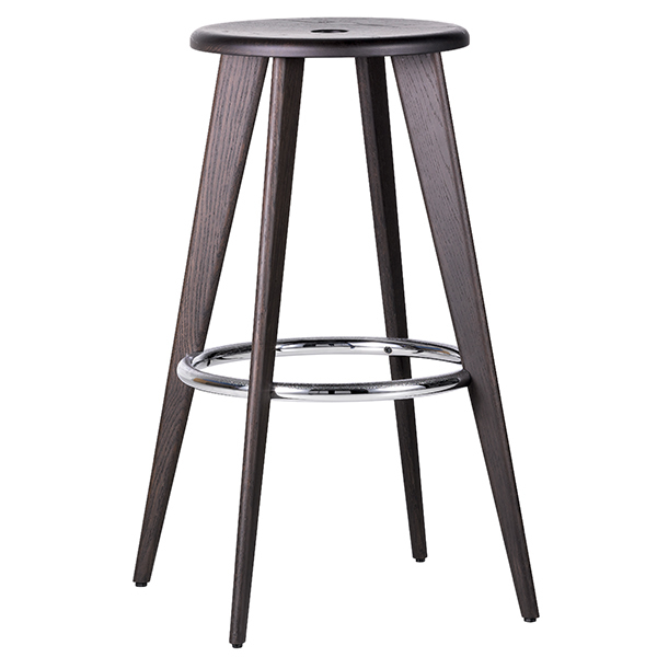 Vitra Tabouret Haut bar stool, dark oak