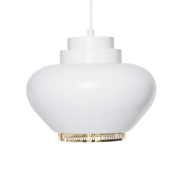 Artek Aalto pendant lamp A333, white - brass