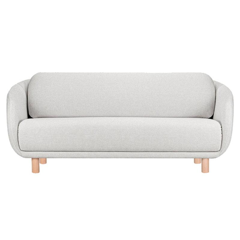 Hakola Bobo Wool 2-istuttava sohva, vaaleanharmaa - koivu