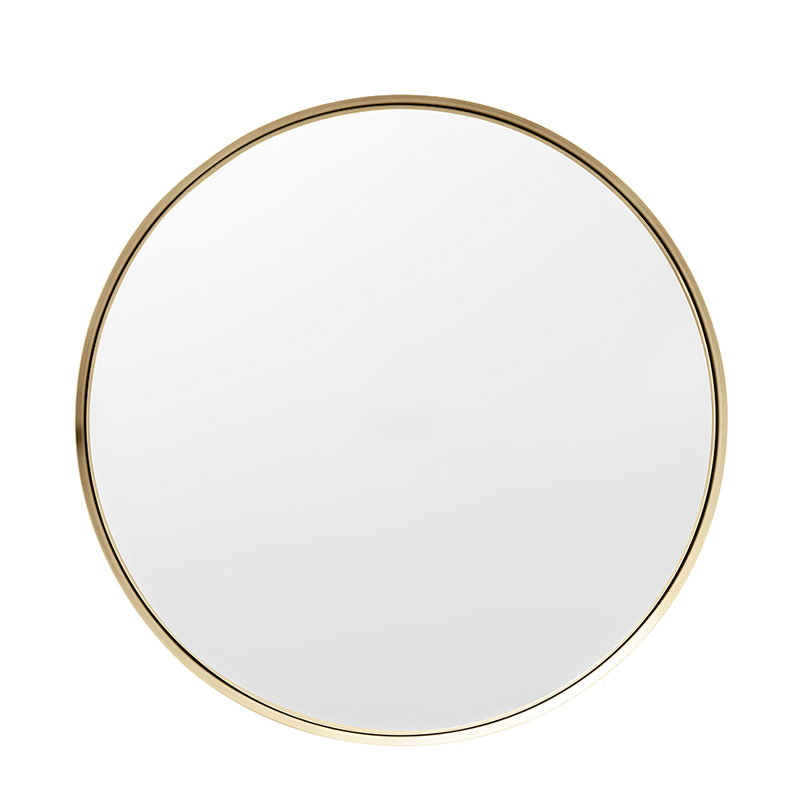 Menu Darkly mirror, medium, brass