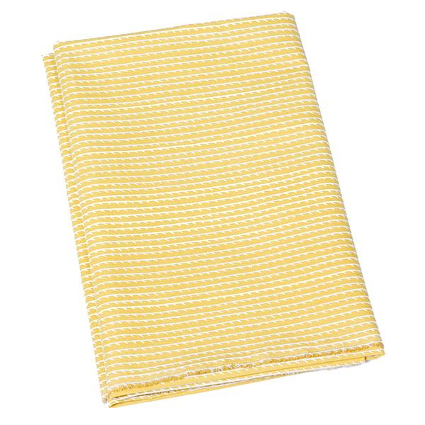 Artek Rivi cotton fabric, 150 x 300 cm, mustard-white
