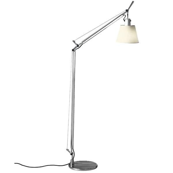 Artemide Tolomeo Basculante Lettura floor lamp, parchment diffuser