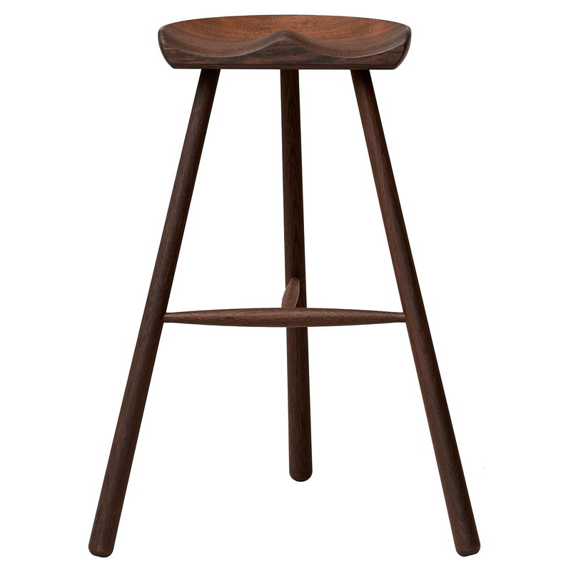 Form & Refine Shoemaker Chair No. 78 bar stool, smoked oak