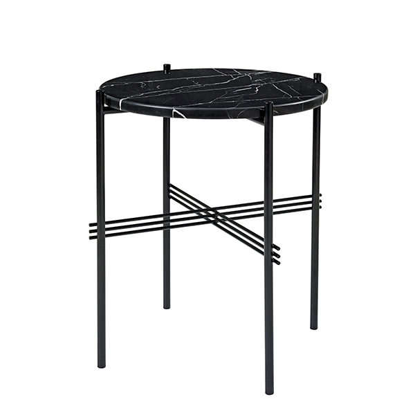 Gubi TS coffee table, 40 cm, black - black marble