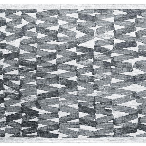 Lapuan Kankurit Päre laudeliina, 46 x 150 cm, musta-valkoinen