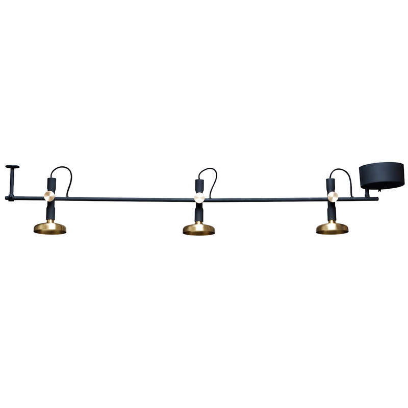 Pholc Blend ceiling lamp, black-brass