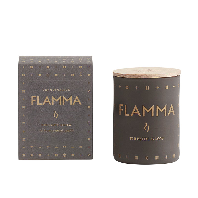 Skandinavisk Scented candle with lid, FLAMMA, small