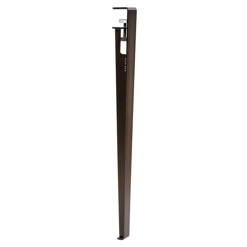 TIPTOE Pöydänjalka 75 cm, 1 kpl, tumma teräs