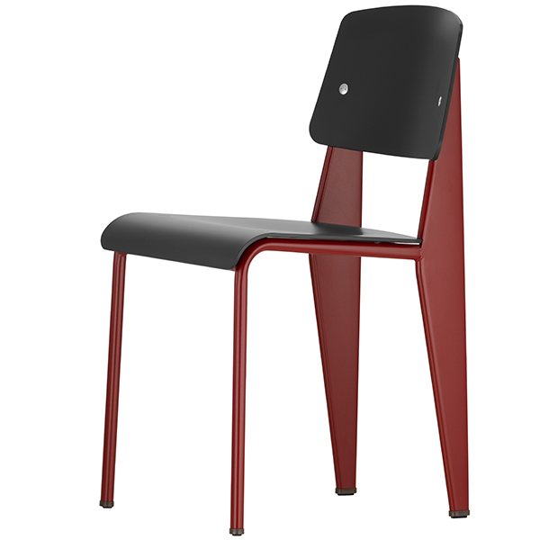 Vitra Standard SP chair, japanese red - black