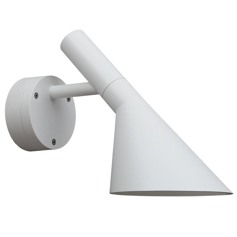 Louis Poulsen AJ 50 wall lamp for outdoors, white