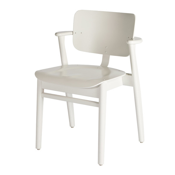 Artek Domus chair, painted white