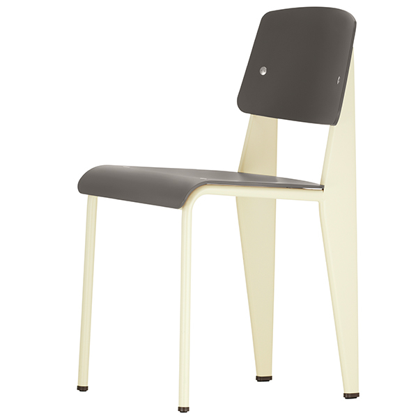 Vitra Standard SP chair, ecru - basalt
