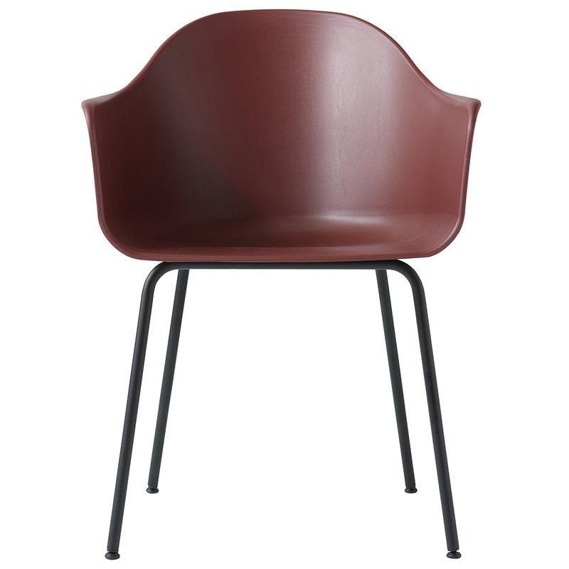 Menu Harbour tuoli, poltettu punainen - musta