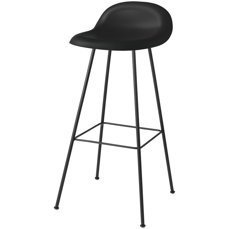 Gubi 3D bar stool, 75 cm, black