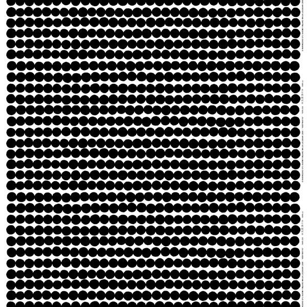 Marimekko Räsymatto fabric, black