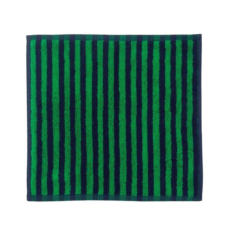 Marimekko Asciugamano mini Kaksi Raitaa, blu scuro - verde