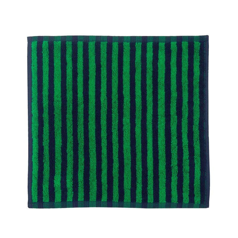 Marimekko Kaksi Raitaa mini towel, dark blue - green