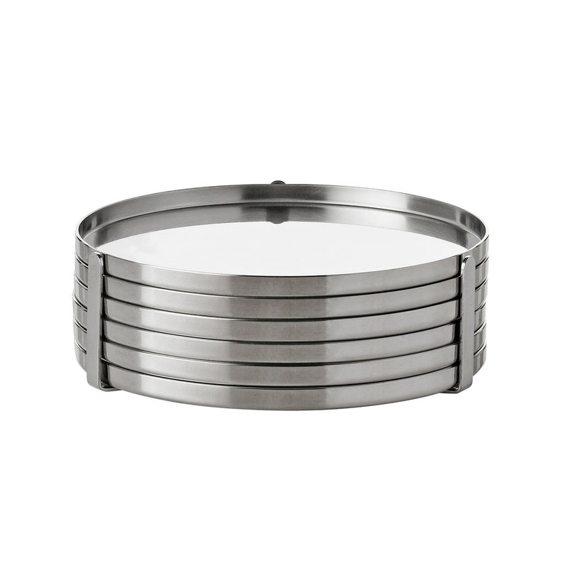 Stelton Arne Jacobsen  coasters, 6 pcs