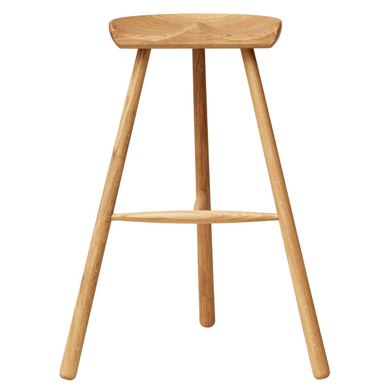 Form & Refine Shoemaker Chair No. 78 bar stool, oak