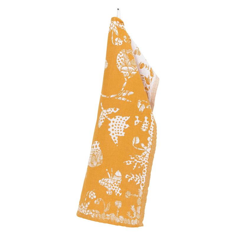Lapuan Kankurit Aamos tea towel 48 x 70 cm, white - cloudberry