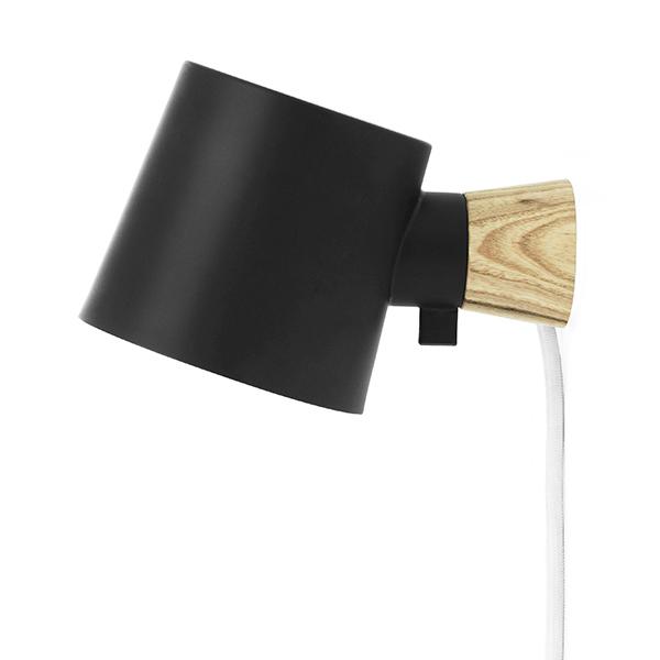 Normann Copenhagen Lampada da parete Rise, nera
