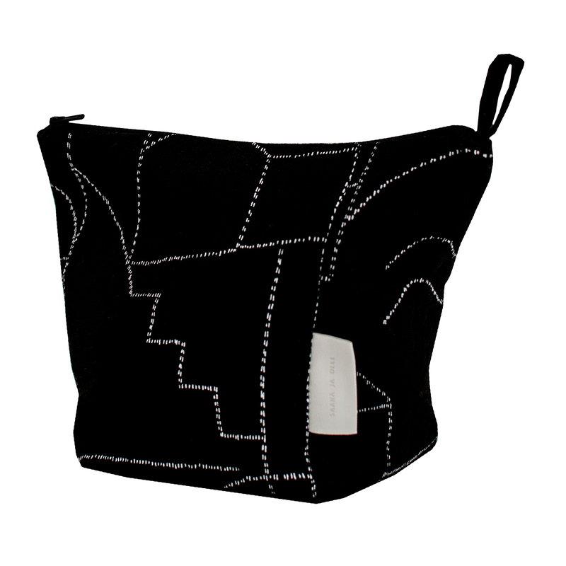 Saana ja Olli Unien talo cosmetics bag, black