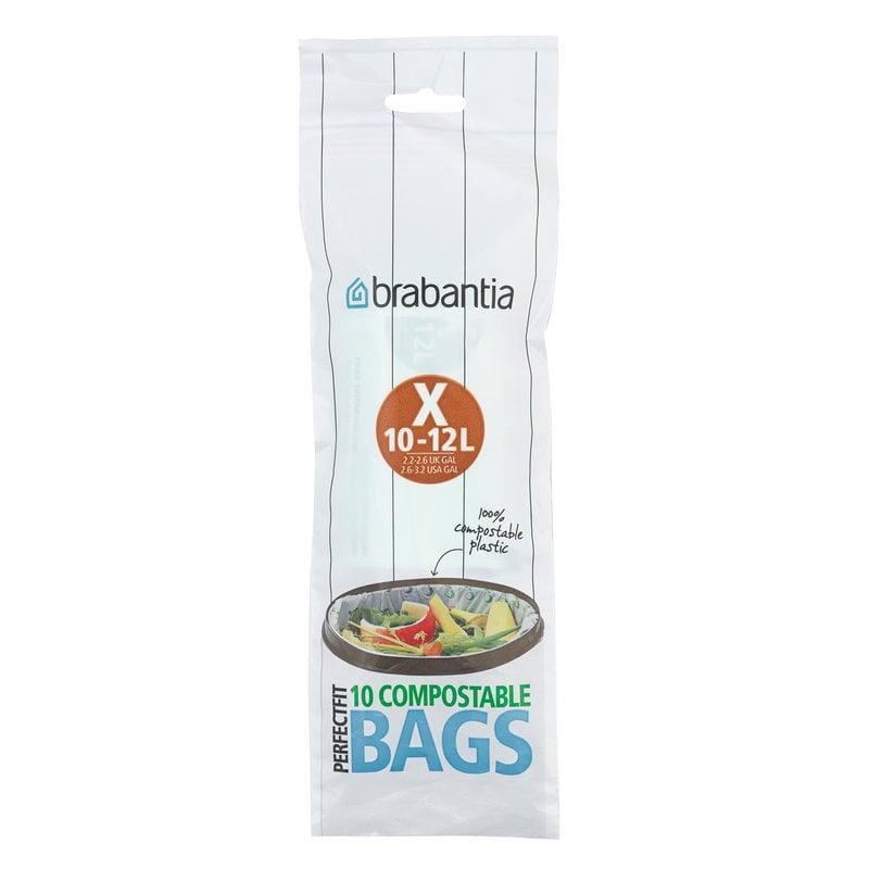 Brabantia Sacchetti biodegradabili PerfectFit 10-12 L, 20 pz, X, verdi