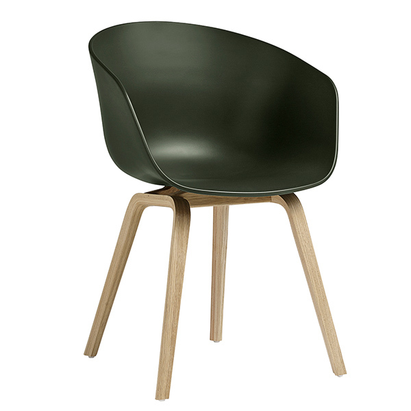 Hay About A Chair AAC22, green - matt lacquered oak