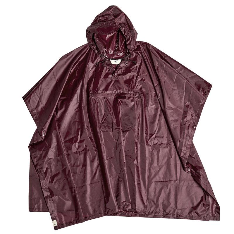 Hay Mono rain poncho, burgundy