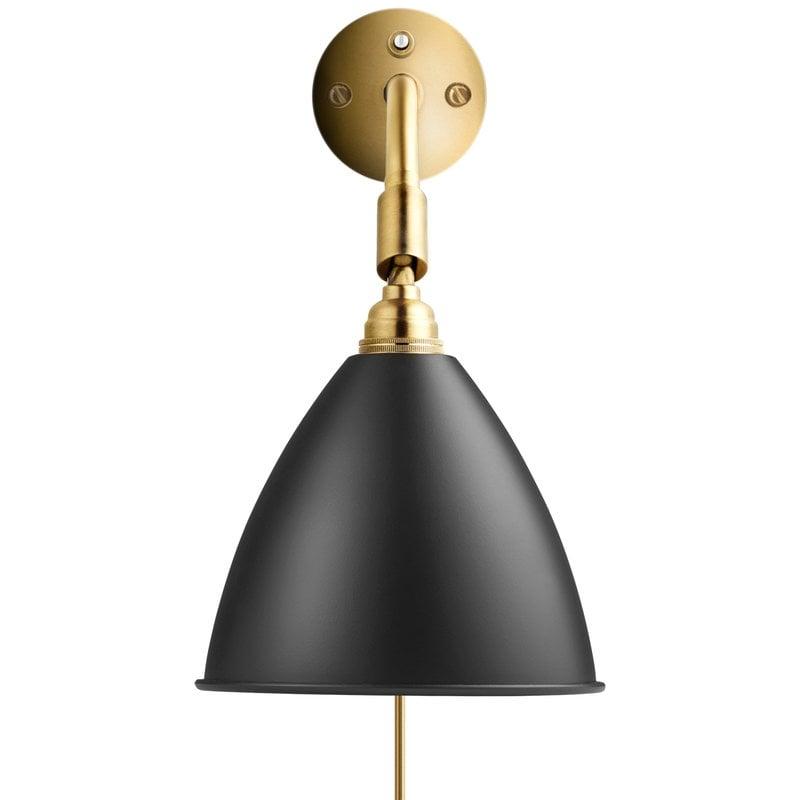 Gubi Bestlite BL7 wall lamp, charcoal/brass
