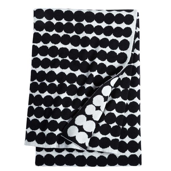 Marimekko Räsymatto blanket, black