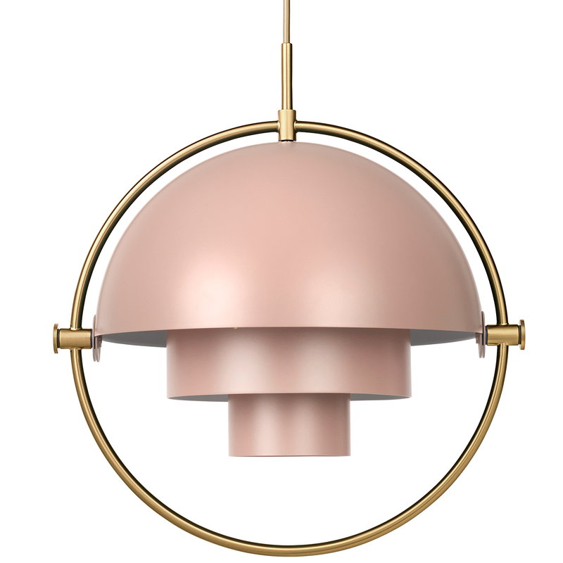 Gubi Lampada a sospensione Multi-Lite, ottone - rose dust