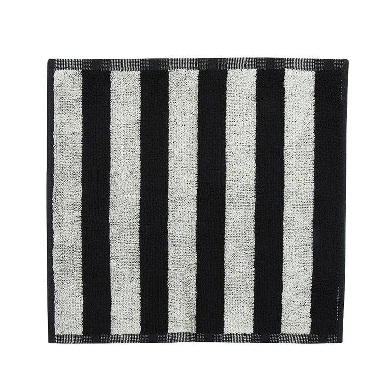 Marimekko Kaksi Raitaa mini towel, black - white