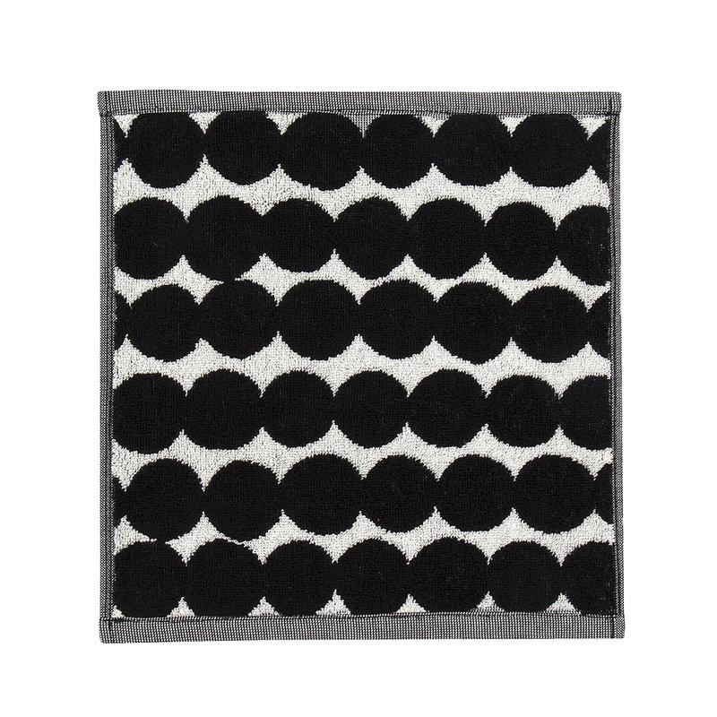 Marimekko Asciugamano mini Räsymatto, nero-bianco