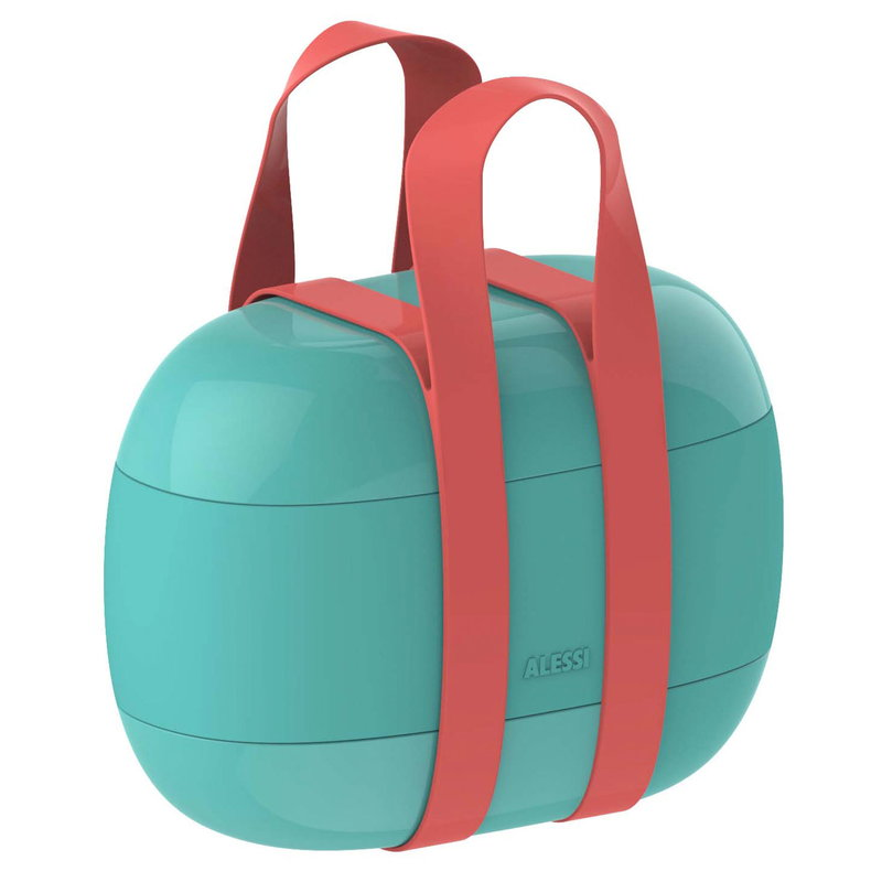 Alessi Food à porter lunch box, light blue