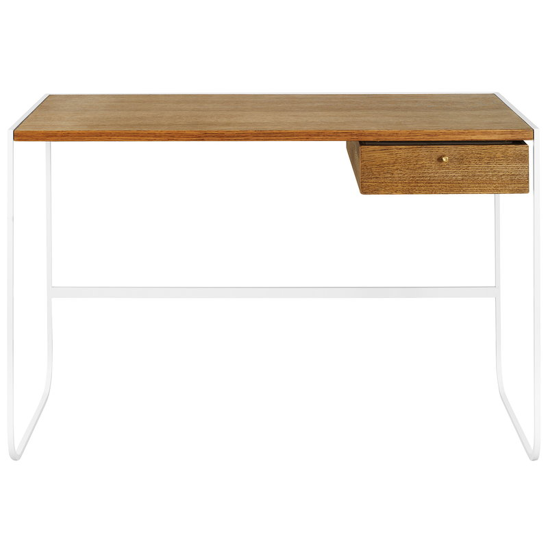 Asplund Tati desk, white - black walnut