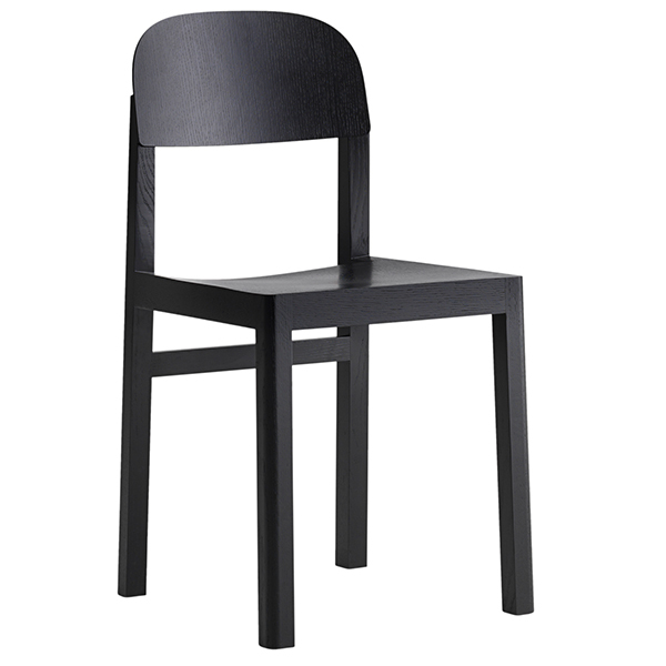 Muuto Workshop chair, black, PU lacquer