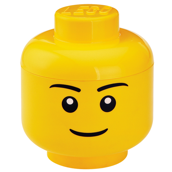 Room Copenhagen Contenitore Lego Storage Head, L, Boy