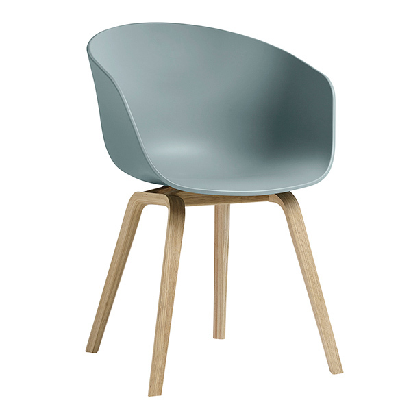 Hay About A Chair AAC22 tuoli, mattalakattu tammi - dusty blue