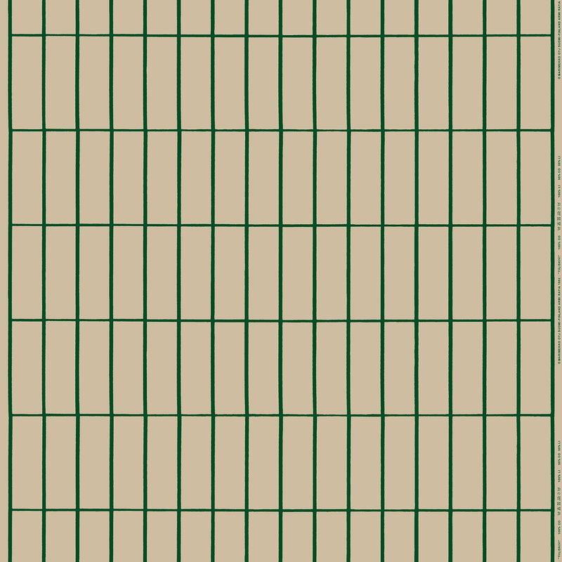 Marimekko Tiiliskivi fabric, beige - dark green